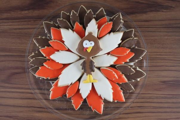 Thanksgiving Turkey Cookie Platter   Lil Miss Cakes
