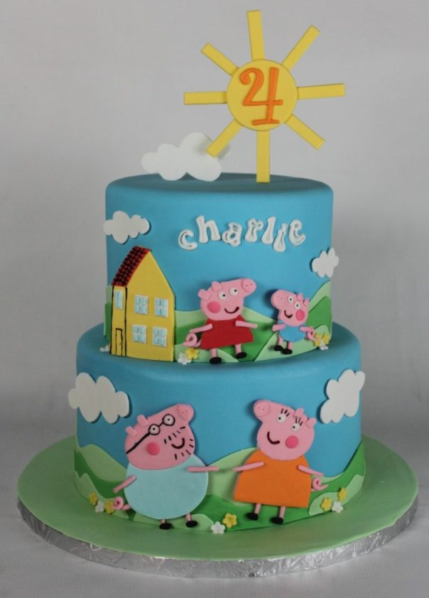 Peppa Pig Cake: Lil Miss Cakes