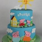 Peppa Pig Cake: Lil Miss Cakes