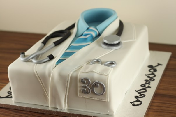 Doctors Lab Coat Sheet Cake | Lil Miss Cakes