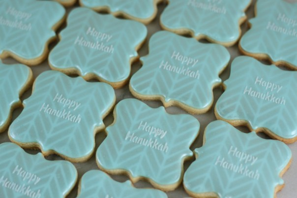 Happy Hanukkah Cookies | Lil Miss Cakes