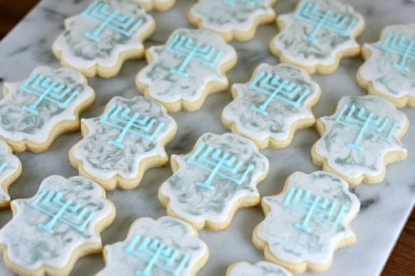 Menorah Hanukkah Cookies | Lil Miss Cakes