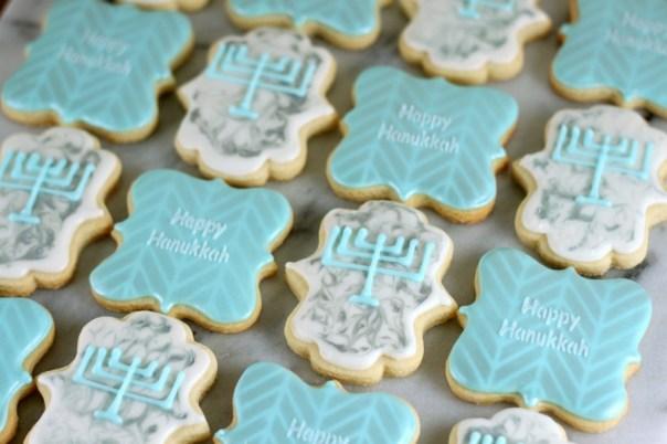 Elegant Hanukkah Cookies | Lil Miss Cakes