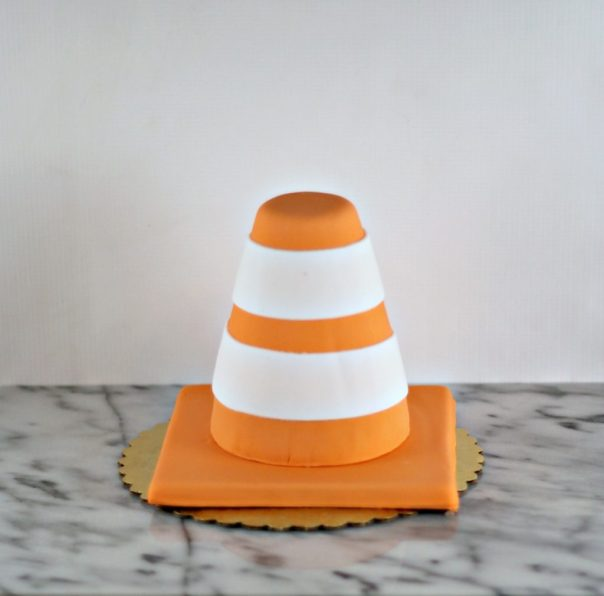 Orange Contruction Cone Smash Cake | Lil Miss Cakes