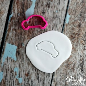 groovy car cutter | Lil Miss Cakes