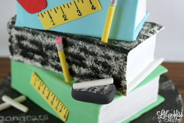 Stack of School Books Cake | Lil Miss Cakes