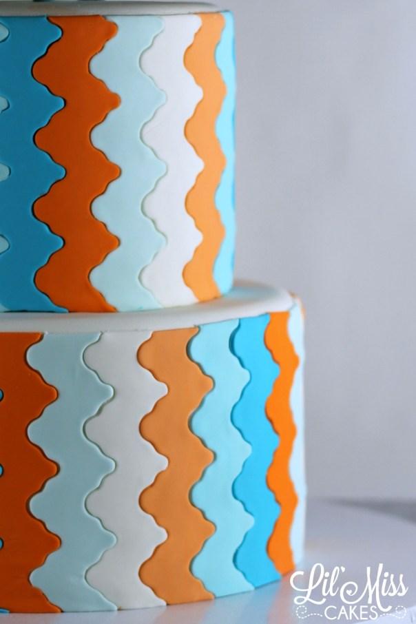 Funky Chevron Stripe   Lil Miss Cakes