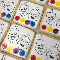Emoji Dreidel Stencil | Lil Miss Cakes
