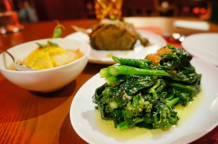 I ordered an additional serve of garlic stir-fried kai-lan