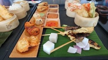 Chicken Satay, Dim Sums, and Baos
