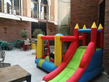 Bouncy castle outdoors