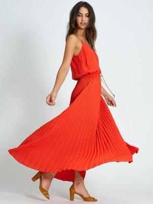 robe longue plissée pavot icode