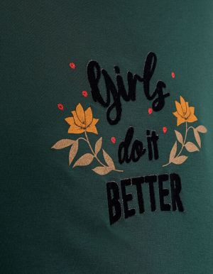 IKKS-TEE_SHIRT VERT PINEGREEN GIRLS DO IT BETTER I_CODE-QR10124-58_5