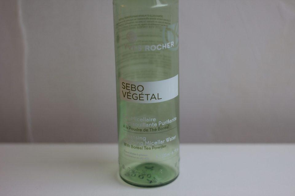 L'eau micellaire Sebo Végétal de chez Yves Rocher
