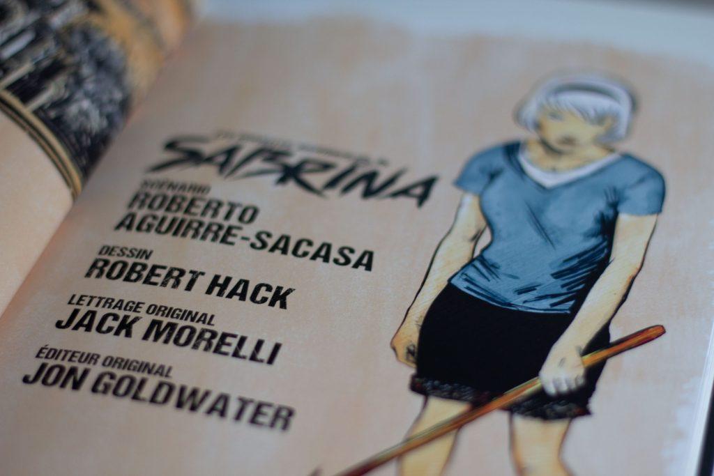 Les nouvelles aventures de Sabrina co-écrite par Roberto Aguirre-Sacasa & Robert Hack