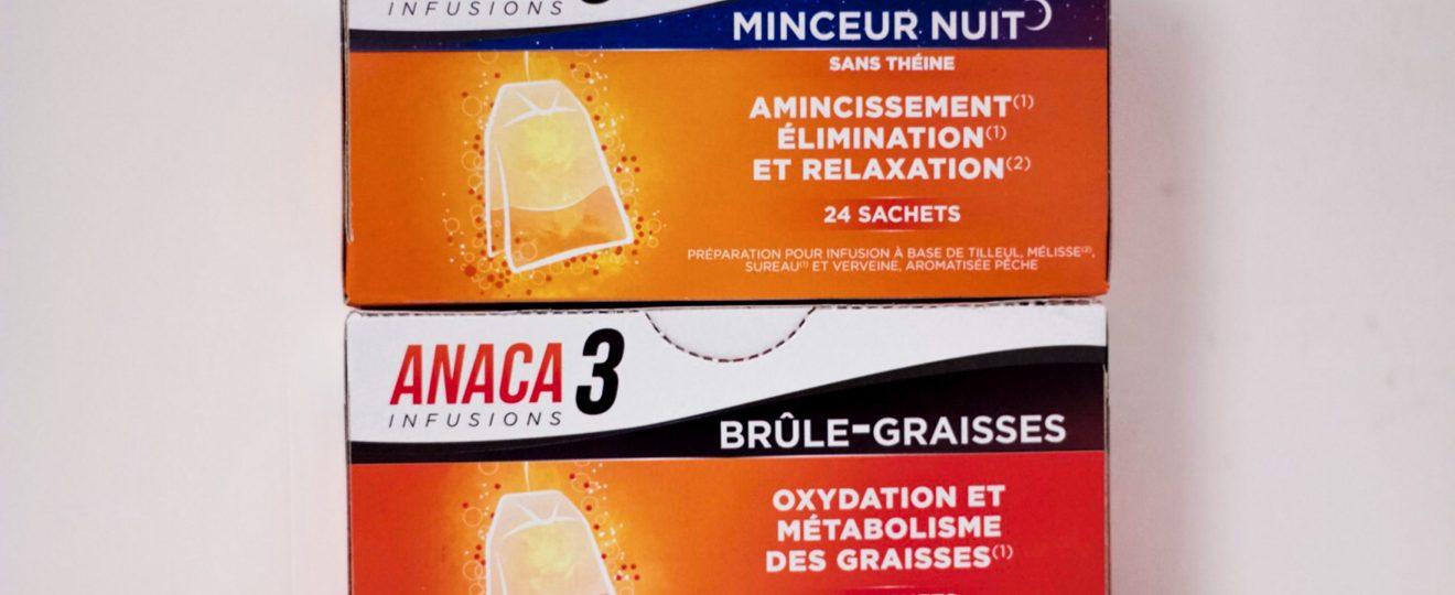 Mon avis sur les infusions Anaca 3 : brûle-graisses et minceur nuit
