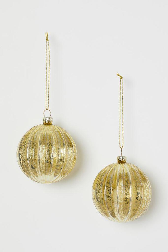 Lot de 2 boules de Noël – H&M