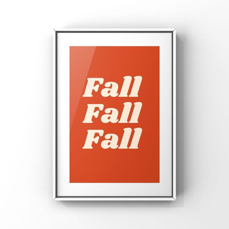 """Affiche """"Fall"""" pour décorer votre maison pour l'automne 2021"""