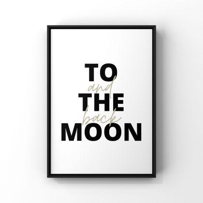 """Affiche """"To the moon and back"""" de la marque Lilovia"""
