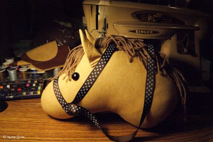 burning the midnight oil ~ late night of sewing!