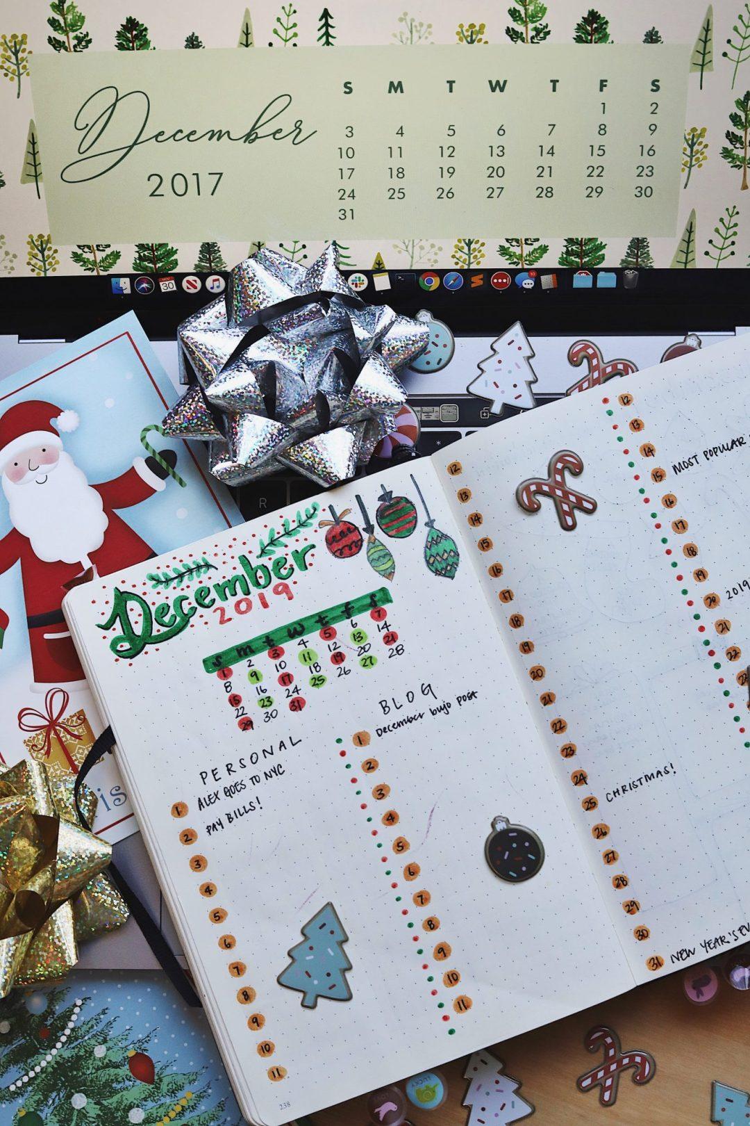 december bujo spread