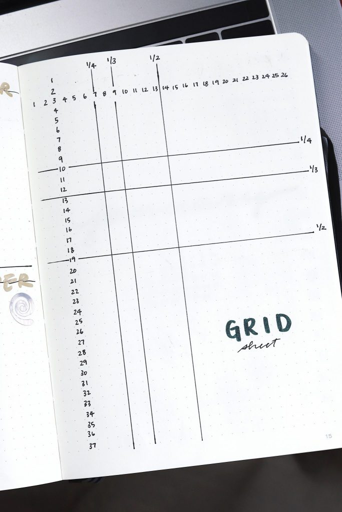 bullet journal grid sheet