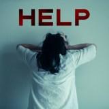 助けを求める女性