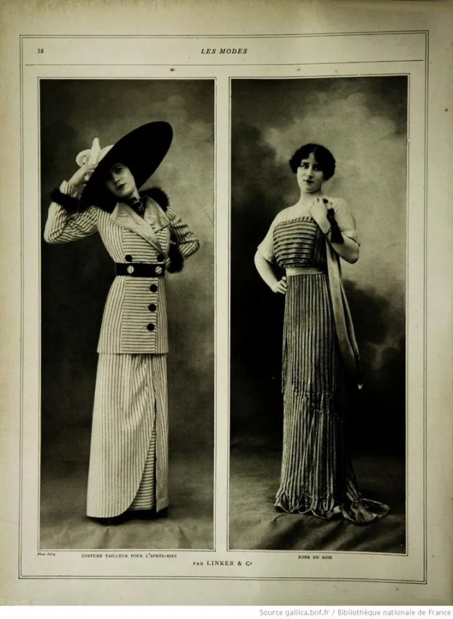 The original source, Les Modes, 1912.