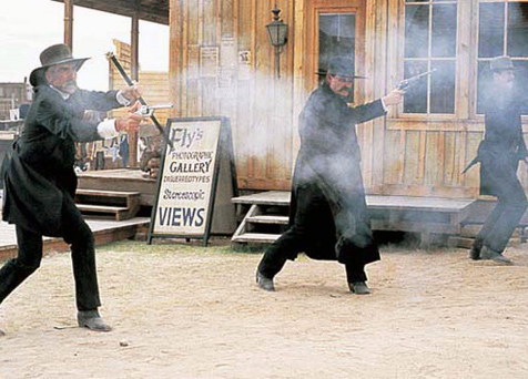 Gunfight at the OK Corral from the movie Tombstone (1993).