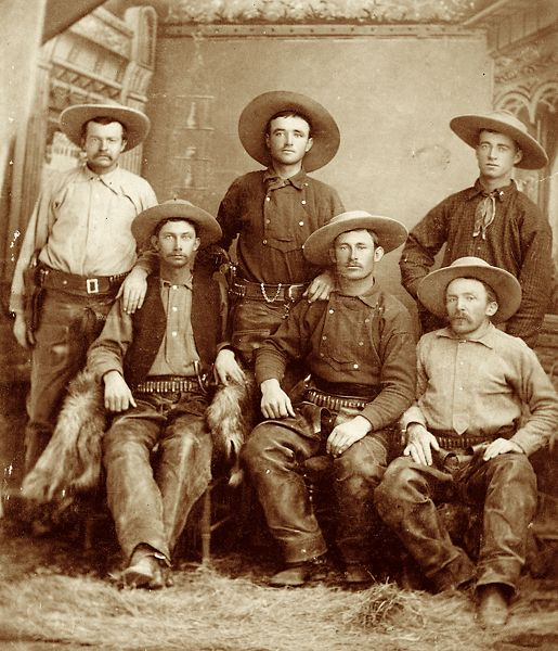 Cowboys from John Slaughter's ranch, c. 1885