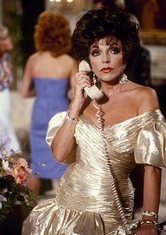 "DYNASTY - ""The Aftermath"" - Airdate October 7, 1987. (Photo by ABC Photo Archives/ABC via Getty Images) JOAN COLLINS"