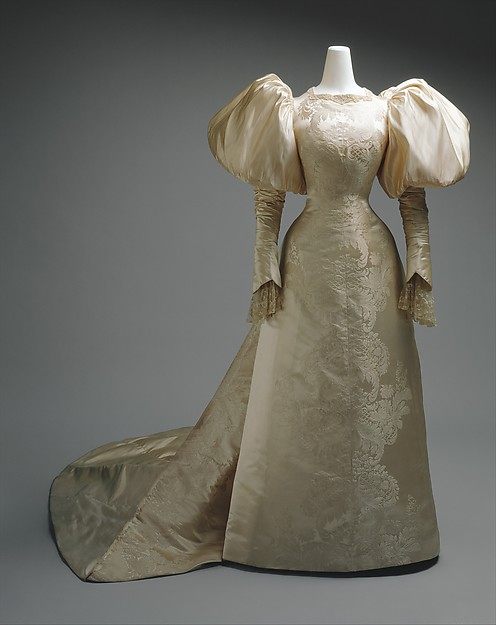 Wedding Dress, Worth, French, 1896; Metropolitan Museum of Art (C.I.41.14.1)