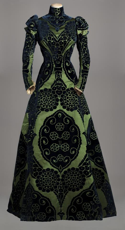 Tea Dress by Designer Charles Frederick Worth circa 1895