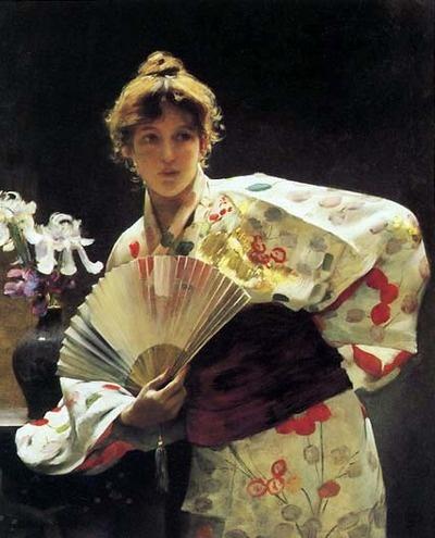 Charles Sprague Pierce_Lady With A Fan_1883
