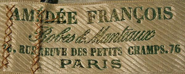 Label - Amedee Francois