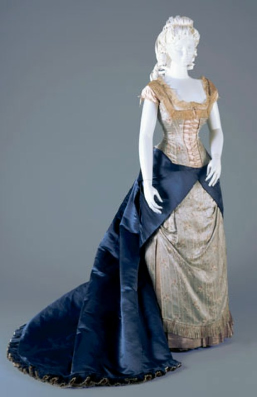 Reception gown, Worth, c. 1877-78