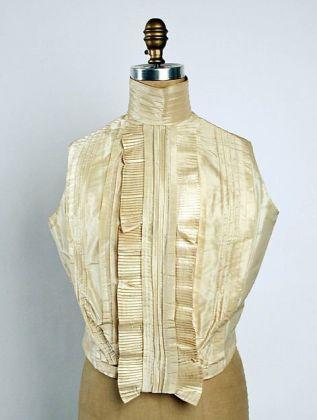 Shirt Waist, c. 18998 - 1899; Metropolitan Museum of Art (C.I.56.16.22)