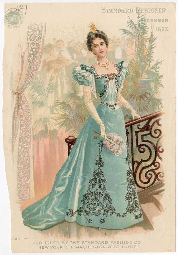 Fashion Plate Ball Gown 1897 Evening Gown