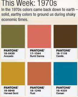 1970s Color Palette Pantone