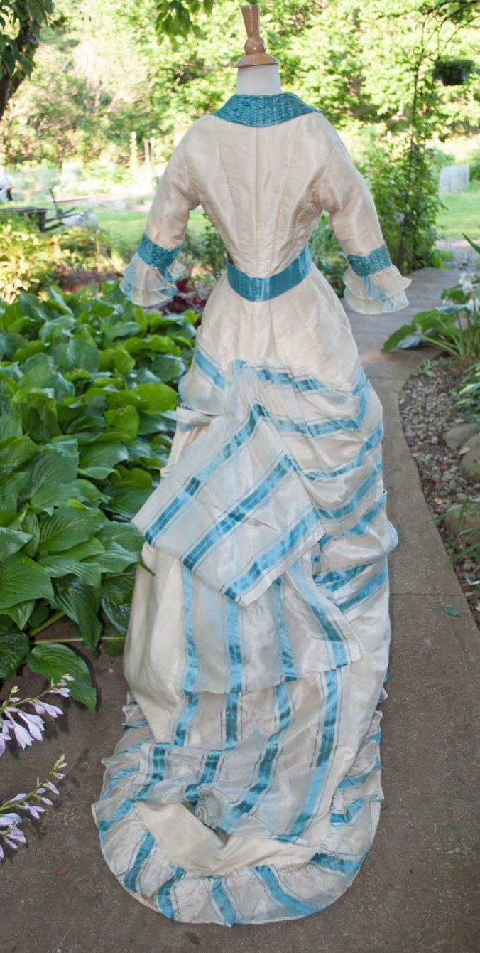 Pina Cloth Day Dress Princess Line c. 1880