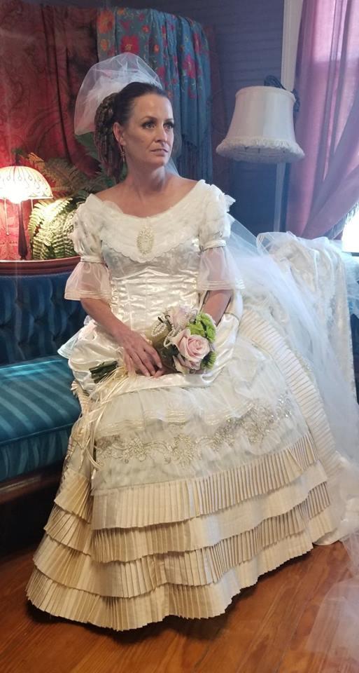 Wedding Dress Tombstone c 1881