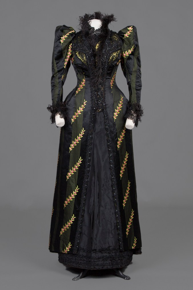 Reception Dress c. 1890 Day Dress