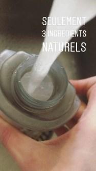 l'eau reste l'ingrédient naturel de base pour nettoyer : logique ! bien chaude, elle permet de nettoyer plus en profondeur efficacement