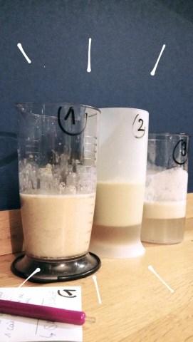 test de trois liquides vaisselle