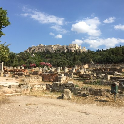 View of the Acropolis from the Agora