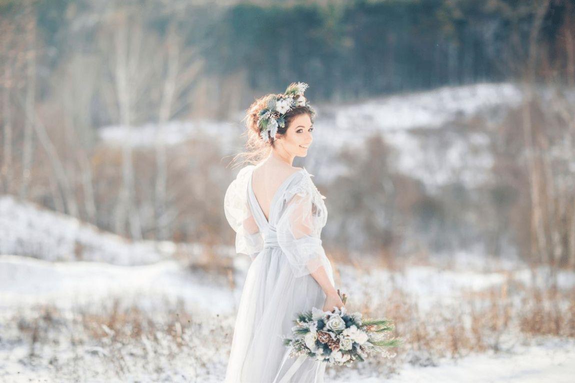 matrimonio in inverno abito da sposa invernale