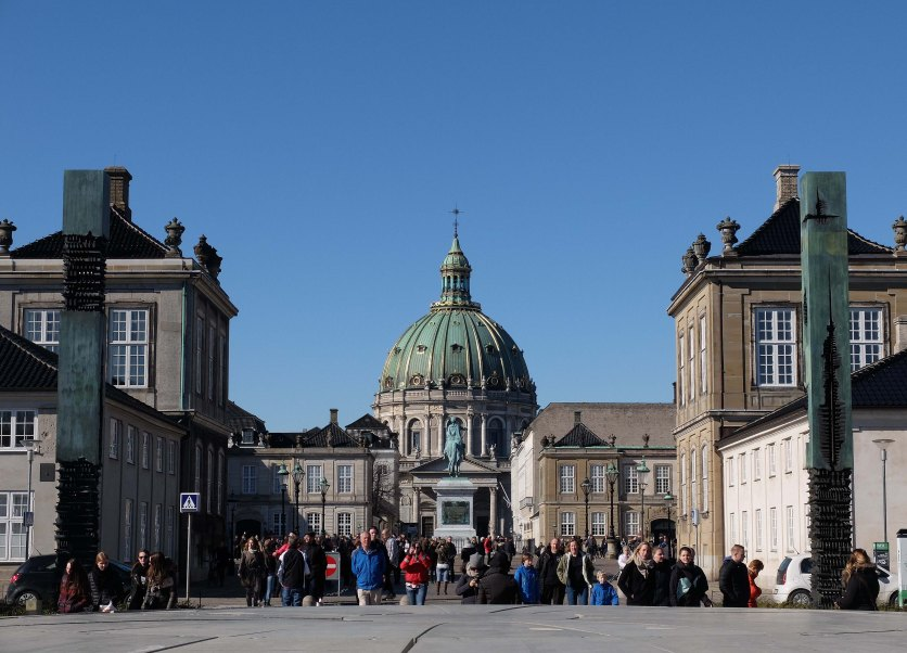 View across the road to Amalienborg