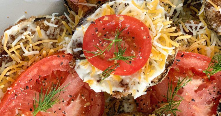 Fried Eggplant with Garlic Mayo Spread