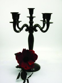 Black Candelabra 5 arm candelabra wedding centrepiece, South Lanarkshire - Lily Special Events