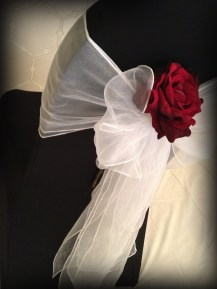Chair Cover with bow rose, Glasgow